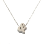 Ampersand Necklace - Recycled Sterling Silver