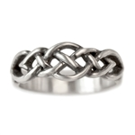 Celtic Knot Wedding Band Narrow Sterling Silver