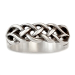 Celtic Knot Wedding Band Wide