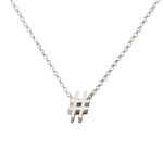Hash Tag Necklace - Recycled Sterling Silver