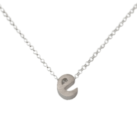 initial necklace letter e necklace in sterling silver