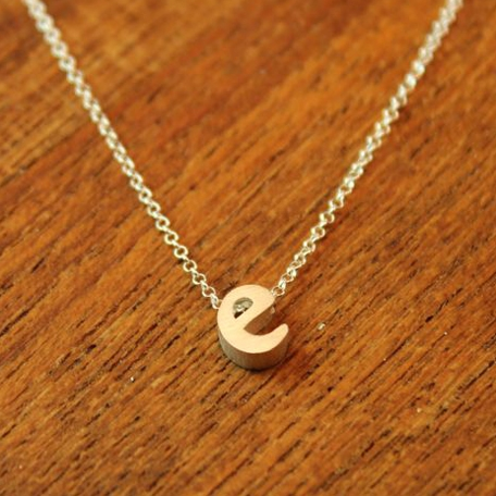 this necklace features your chosen letter