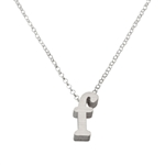 Initial Necklace letter F necklace in sterling silver