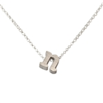 Initial Necklace letter N necklace in sterling silver
