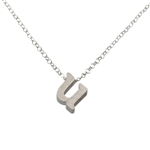 Initial Necklace letter U necklace in sterling silver