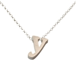 Initial Necklace letter Y necklace in sterling silver