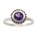 Cosmos Engagement ring with Amethyst