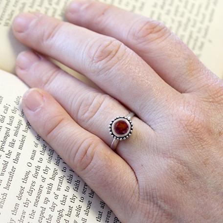 unique and celestial the cosmos engagement ring - Garnet Wedding Rings