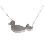 Mother Duck with One Baby Necklace