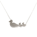 Mother Duck with Two Babies Necklace