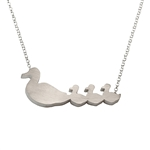 Mother Duck with Three Babies Necklace