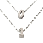 Lucky Number Necklace in sterling silver