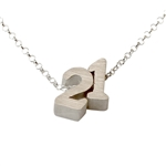 Build Your Own Lucky Number Necklace in sterling silver