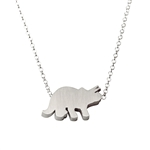 Triceratops Dinosaur Necklace - Recycled Sterling Silver