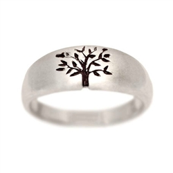 Tree of Life Wedding Ring White Gold