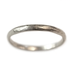 Narrow Rustic Wedding Band