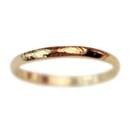 Narrow Gold Rustic Wedding Band Wedding Rings Handcrafted