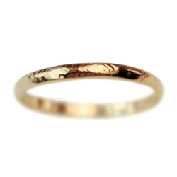 Narrow Gold Rustic Wedding Band