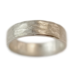 Wide Branch Wedding Band