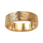 Wide Gold Branch Wedding Band