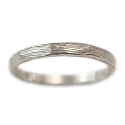 Narrow Branch Wedding Band
