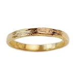 Narrow Gold Branch Wedding Band