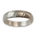 Wide Rain Wedding Band