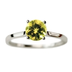 Classic Solitaire Engagement Ring with Peridot