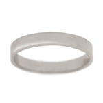 Classic Silver 3mm Square Edge Wedding Band
