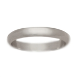 Classic 3mm Half Round Wedding Band