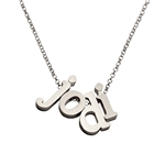 Build Your Own Initial Necklace in sterling silver