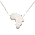 Africa Necklace - Recycled Sterling Silver