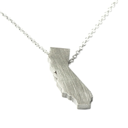 California Necklace - Recycled Sterling Silver