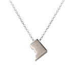 Washington DC Necklace - Recycled Sterling Silver