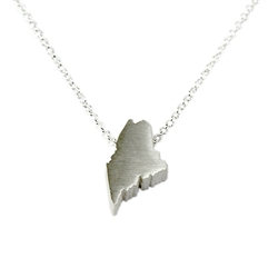 Maine Necklace - Recycled Sterling Silver