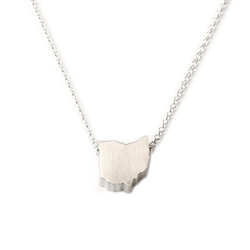 Ohio Necklace - Recycled Sterling Silver