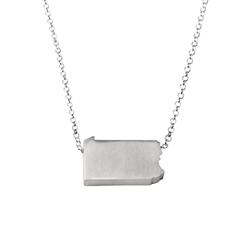 Pennsylvania Necklace - Recycled Sterling Silver