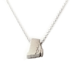 Rhode Island Necklace - Recycled Sterling Silver