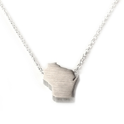 Wisconsin Necklace - Recycled Sterling Silver